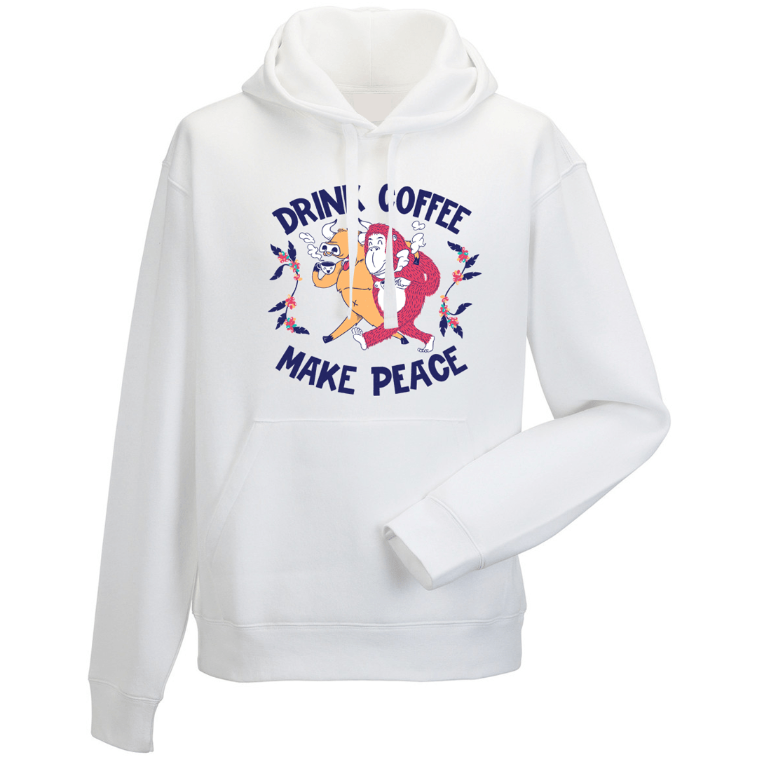 Drink Coffee, Make Peace Hoodies