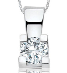 T2253414 14KT White Gold .25ct tw Diamond Pendant 50% Off FINAL SALE