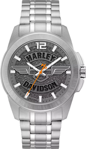 76A157 Harley Davidson Stainless Steel Case and Bracelet