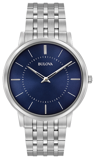 96A188  BULOVA  From the Classic Collection. New ultra-slim case in stainless steel