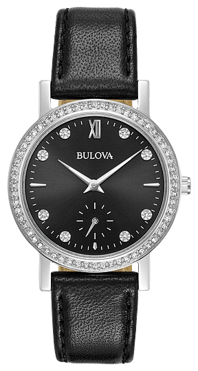 96L246 BULOVA New slim dress styling in stainless steel case with 68 Swarovski® Crystals