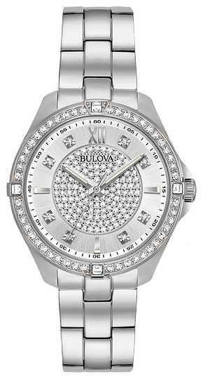 96L236 BULOVA Stainless Steel Case and Bracelet 50% Off FINAL SALE