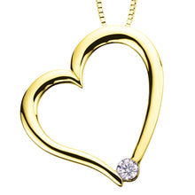 Load image into Gallery viewer, AM126  10KT White/Yellow Gold Heart Pendant. 0.03CT TW Canadian Diamond