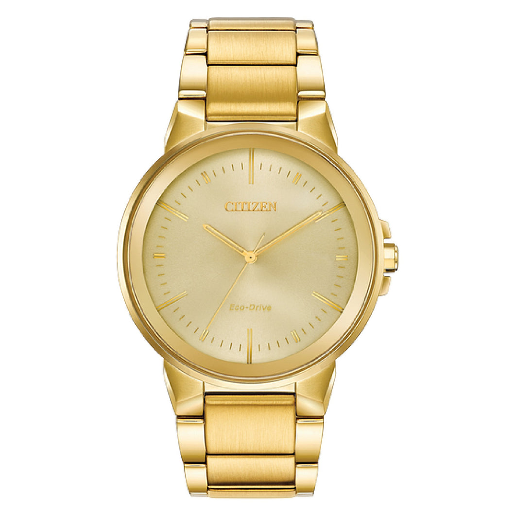 BJ651256P CITIZEN® Eco-Drive Yellow Tone Stainless Steel 40% Off FINAL SALE