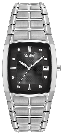 BM655058E CITIZEN® Stainless steel with a 33 x 31mm case and a deployment clasp