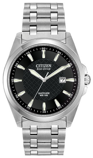 BM710059E CITIZEN® handsome 3-hand timepiece crafted in stainless steel