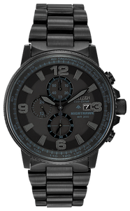CA029558E CITIZEN® Eco-Drive Nighthawk, black ion plated stainless steel, Water resistant up to 200 metres
