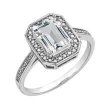 Load image into Gallery viewer, DD7465 10KT White Gold White Topaz Ring
