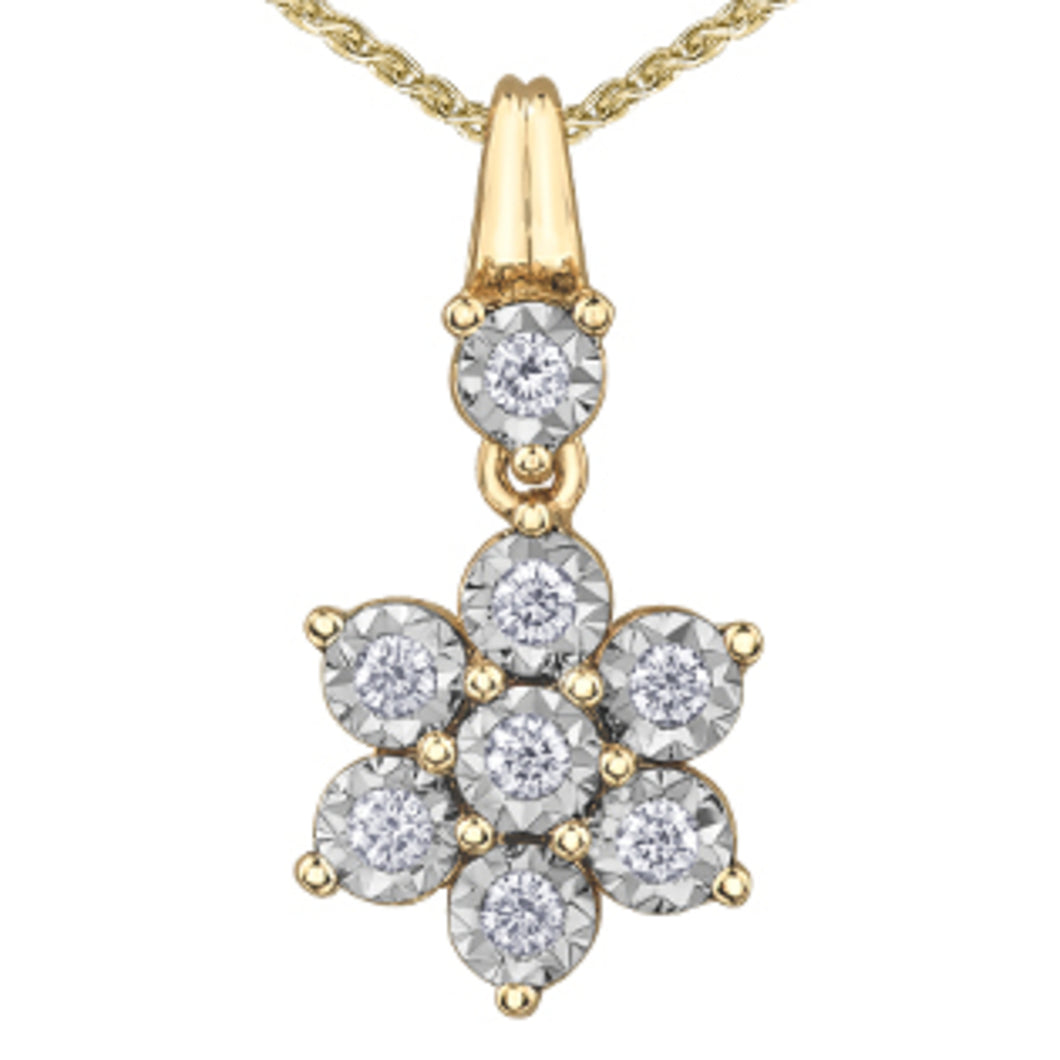 DD7748YW20 10KT Yellow & White Gold 0.20ct tw Diamond Pendant