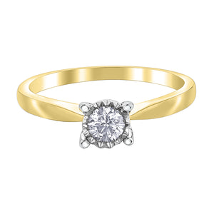 DX824W/Y25 10KT White/Yellow Gold .25ct tw Diamond Ring