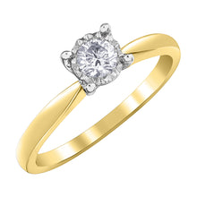 Load image into Gallery viewer, DX824W/Y25 10KT White/Yellow Gold .25ct tw Diamond Ring
