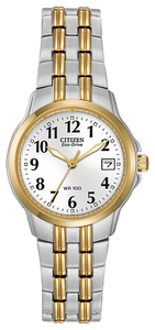 "EW154453A  CITIZEN® Eco-Drive Corso collection exemplifies the phrase ""crisp and clean"""