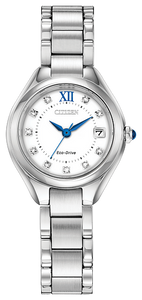 EW254083A CITIZEN® with Eco-Drive technology is a classic dress watch featuring Swarovski® crystals.