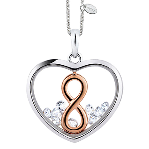 P4407ROCZ ASTRA Sterling Silver Infinity Pendant 20mm 40% Off FINAL SALE