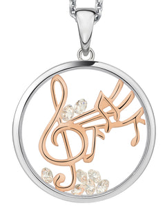 P492316R0 ASTRA Sterling Silver Happy Melody Pendant 16mm