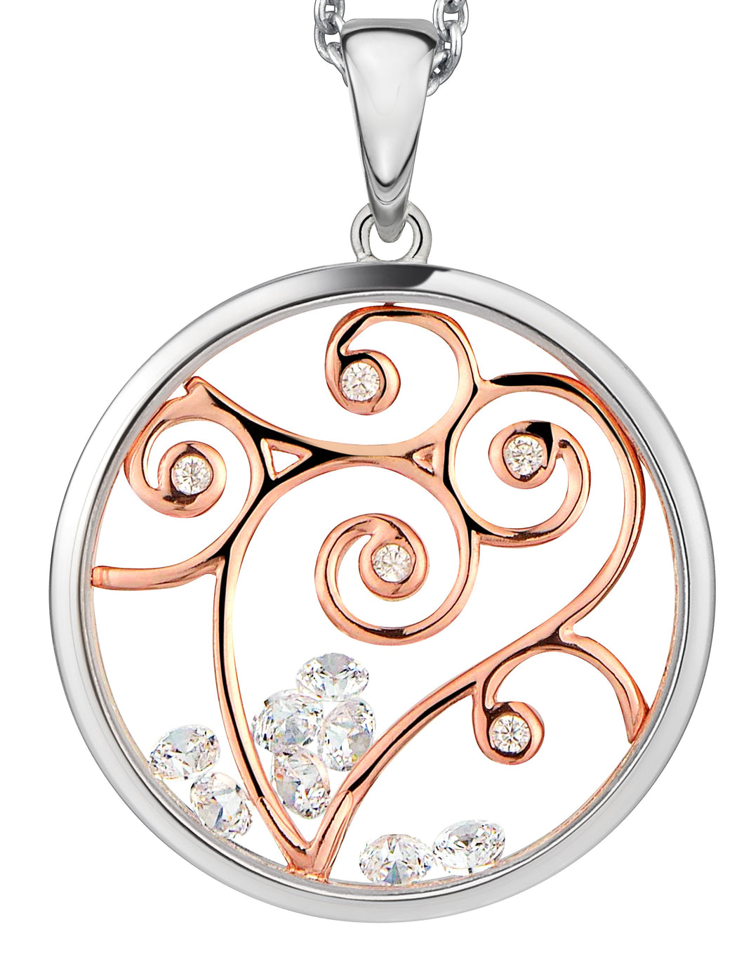 PA513516 ASTRA Sterling Silver Autumn Pendant 16mm 40% Off FINAL SALE