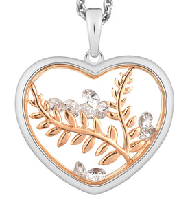 PA5213R0 ASTRA Sterling Silver Peaceful Heart Pendant 40% Off FINAL SALE