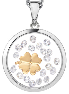 PA564416Y ASTRA Sterling Silver Clover Pendant 16mm 40% Off FINAL SALE