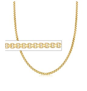 "IABOX up to 22"" 1.0mm wide ADJUSTABLE 10K Yellow Gold Box Chain"