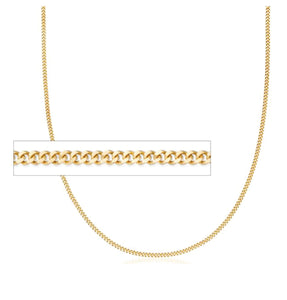 "CC06022 22"" 2.4mm wide 10K Yellow Gold Curb Chain"