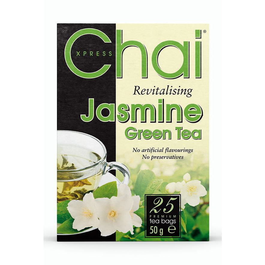 Chai Xpress revitalising Jasmine Green Tea Box