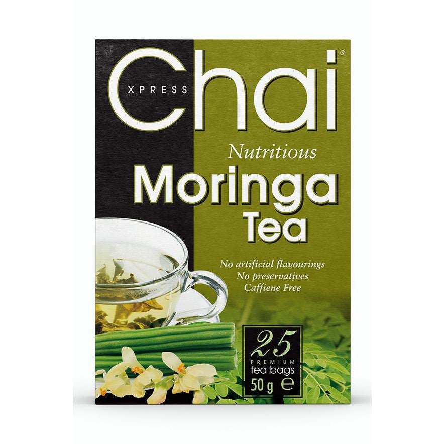 Chai Xpress Moringa Tea box packaging