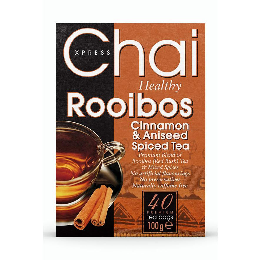 Chai Xpress Rooibos Red Bush Tea With Cinnamon and Aniseed Box