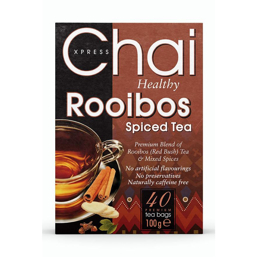 Chai Xpress Rooibos Red Bush Spiced Tea Box