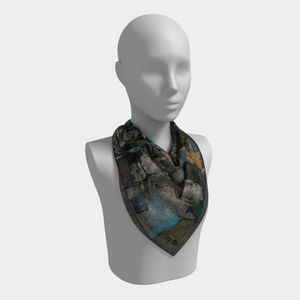 Ancient Ruins Square Scarf