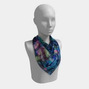 Blues Square Scarf