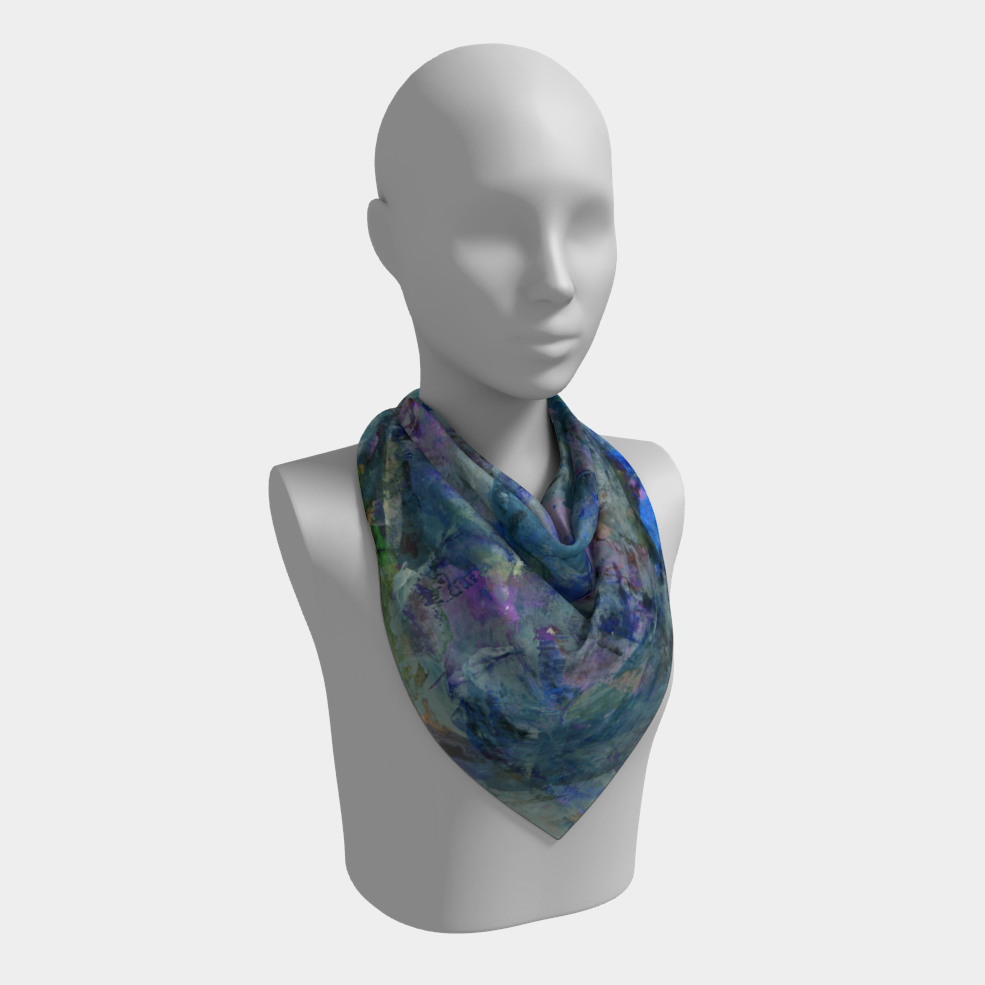 Jungle Stream Square Scarf