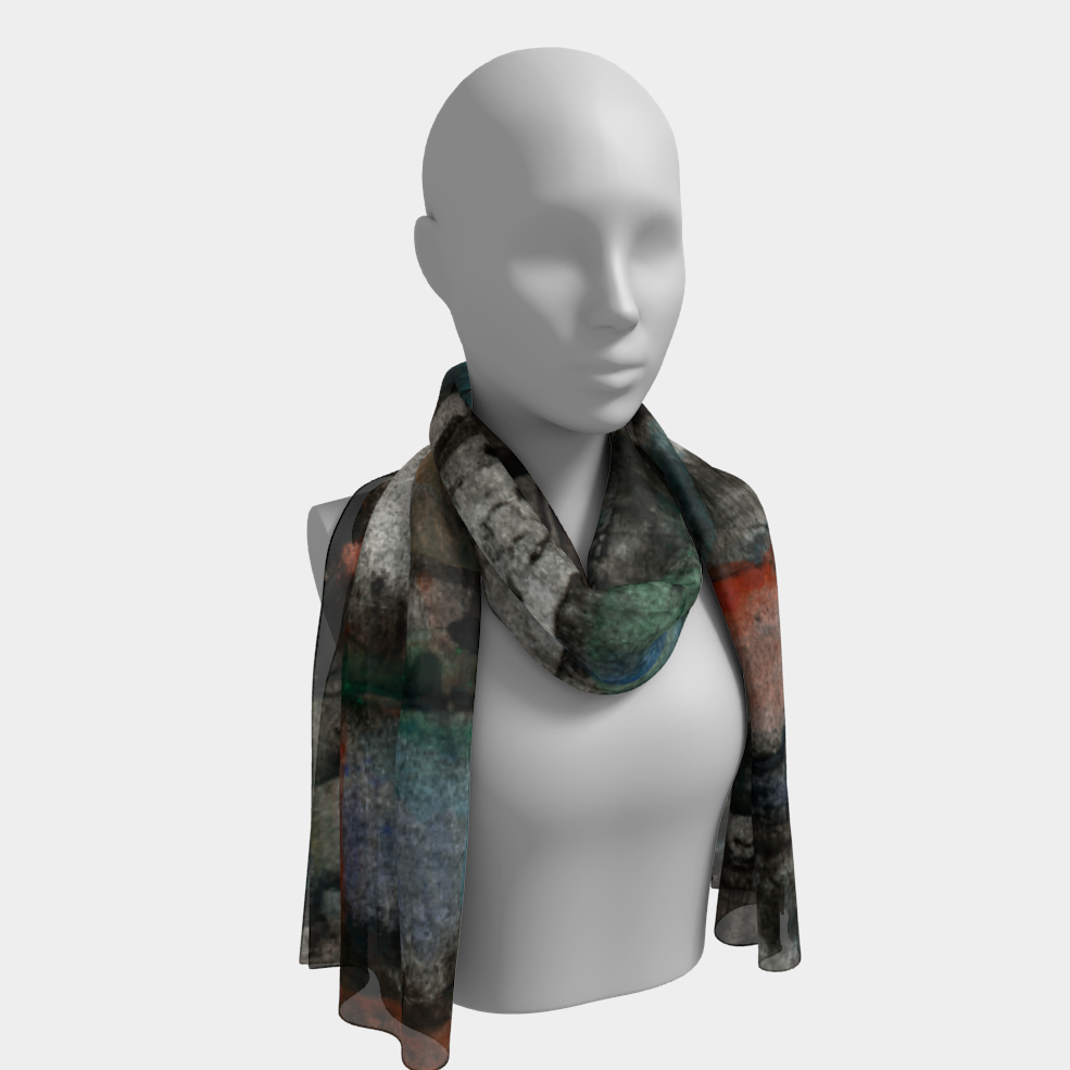 Ancient Ruins Long Scarf