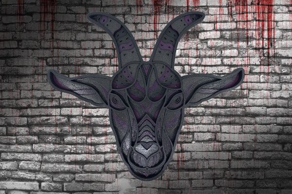 Unholy Goat Multilayer Wood Wall Décor