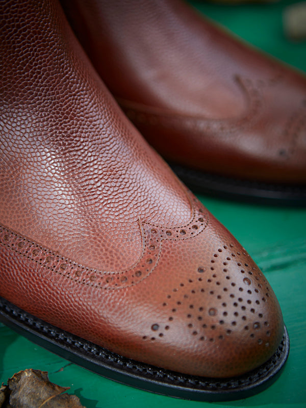 Owl whiskey Chelsea Brogue Dealer Boot - toe detail