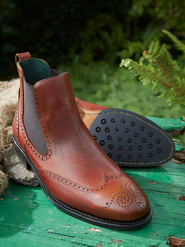 Owl whiskey Chelsea Brogue Dealer Boot - sole
