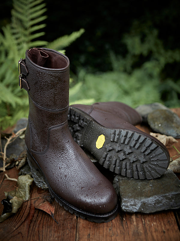 Hawk - Country Boot in Chestnut Brown Leather
