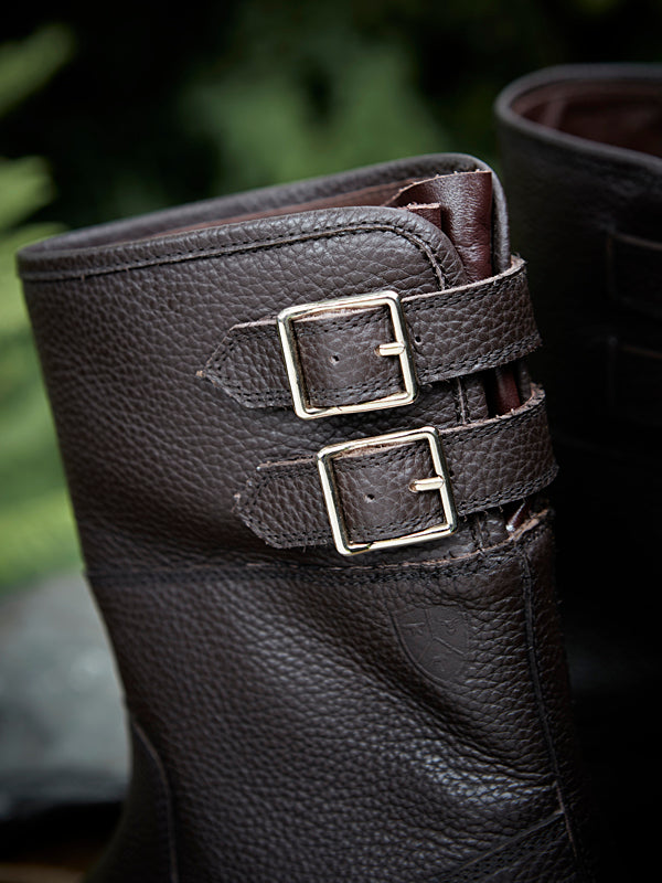 Hawk brown Country Boot - buckle detail