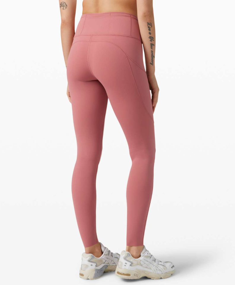 "Lululemon Fast and Free High-Rise Tight II 25"" Non-Reflective - yogahubstore"