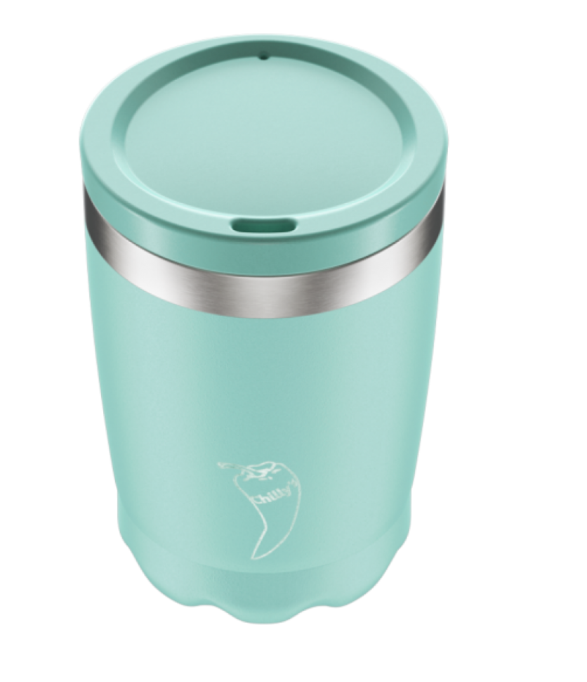 Chilly's Reusable Coffee Cup 340ml Matte Mint Green - yogahubstore