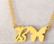 letter b necklace with butterfly pendant