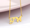 initial f necklace with butterfly gold