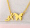 letter k necklace with butterfly pendant
