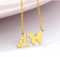 letter l necklace with butterfly gold