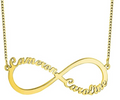 infinity name necklace 18 karat gold plated sterling silver