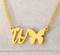 letter w necklace gold plated