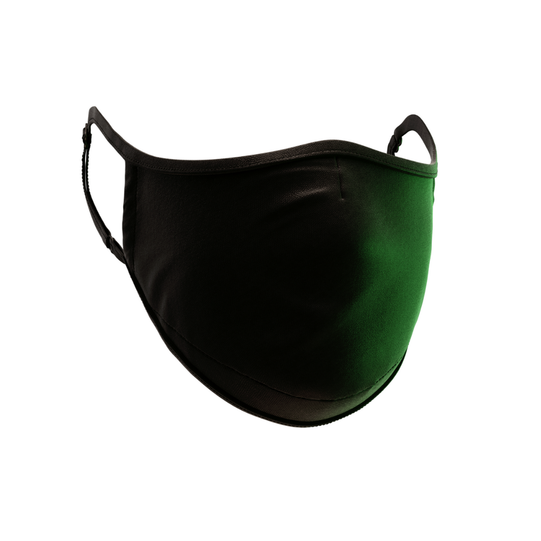 Guardex face mask plus 5 filters — comfortable, breathable, adjustable in black — front view