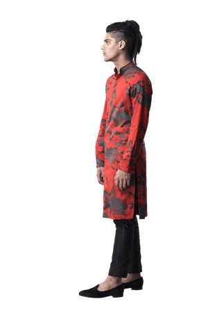 Abstract Cloud Print Kurta