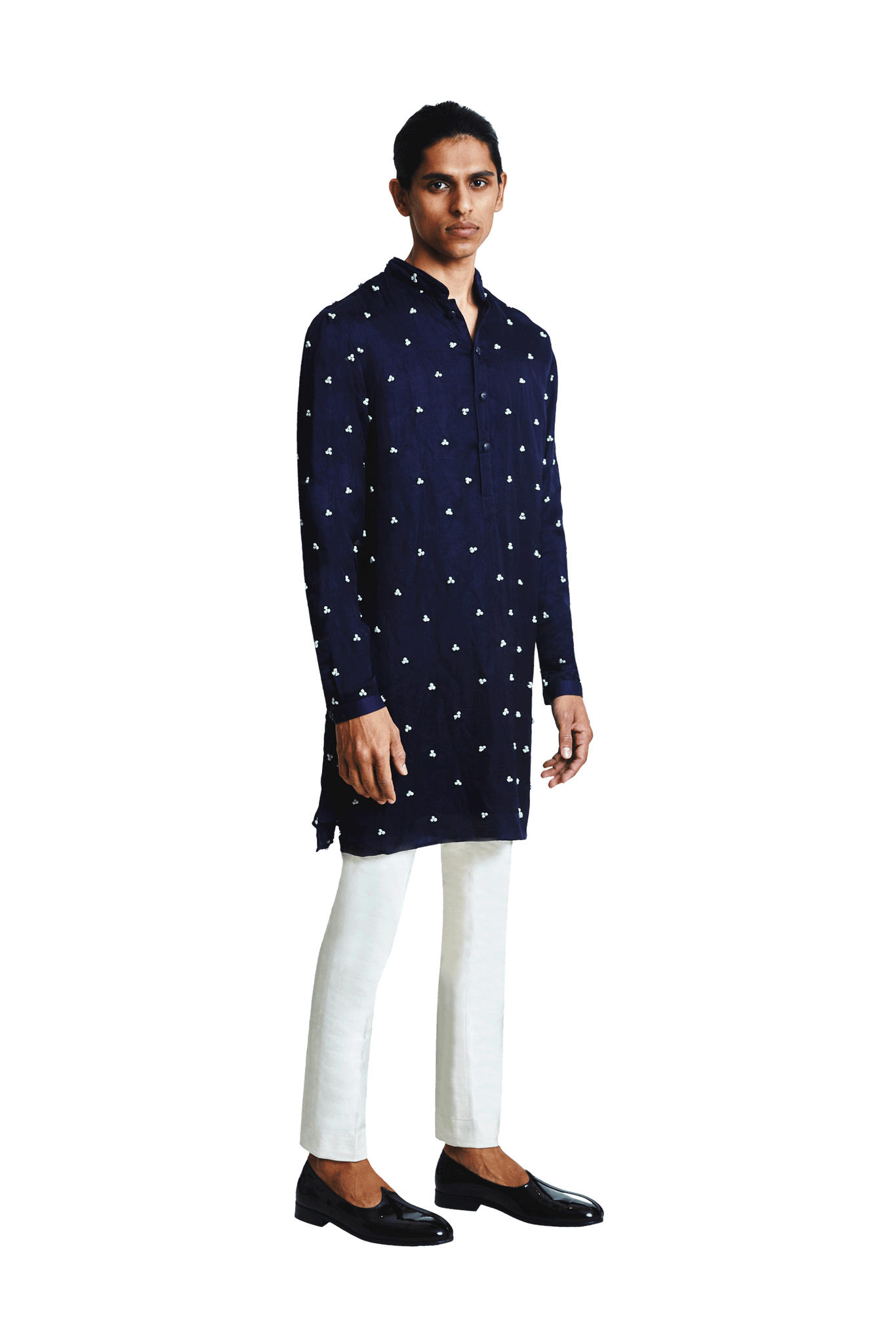 BIG BRAIL KNOTTED KURTA