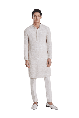 SINGLE GEOMETRIC KNOTTED KURTA