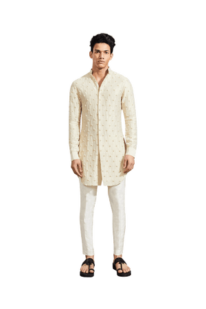 FIRE KNOTTED KURTA